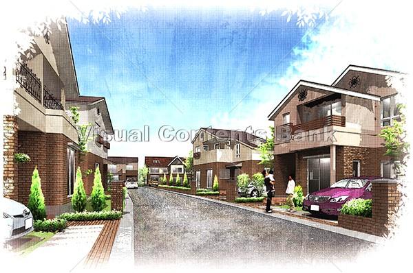 住宅街03dp0010 Aruyo Visual Contents Bank